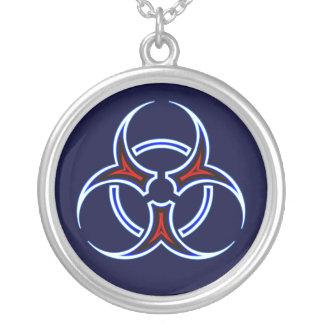 Tribal Biohazard Symbol Necklace