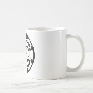 Tribal black and white mug