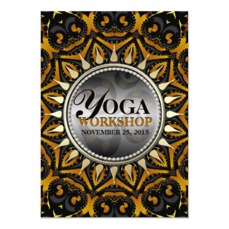Tribal Black Gold Sun Yoga Workshop Invitations