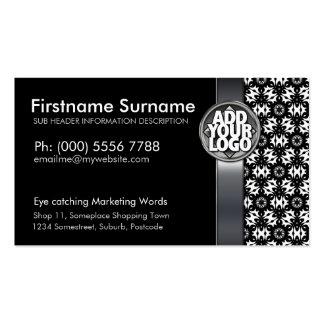 Tribal Black White Batik  w/ Logo Business Cards