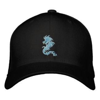 tribal blue dragon baseball cap