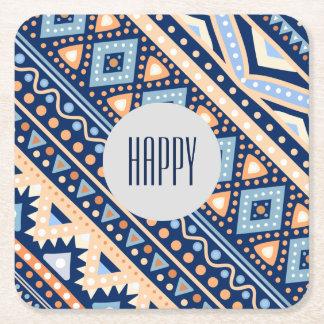 Tribal blue retro Ethnic vintage pattern Coasters