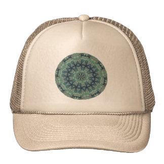 TRIBAL BOHEMIAN KALEIDOSCOPIC GEOMETRIC MANDALA CAP