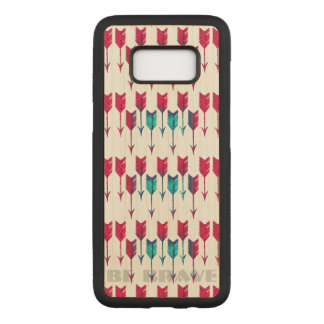 Tribal Boho Arrows Red Turquoise Feather Bohemian Carved Samsung Galaxy S8 Case