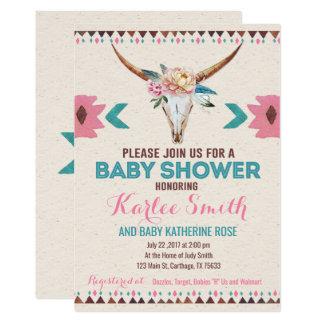Tribal Boho Floral Baby Shower Invitation