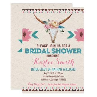 Tribal Boho Floral Bridal Shower Invitation