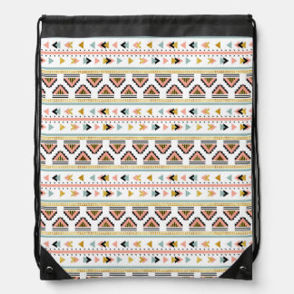 Tribal Boho Pattern Drawstring Bag