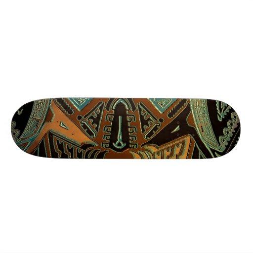 Tribal bold abstract skateboard by hybridworld