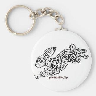 Tribal Bunny Key Ring