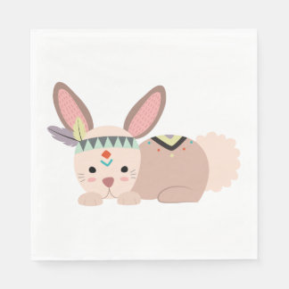 Tribal Bunny Napkin Disposable Serviette