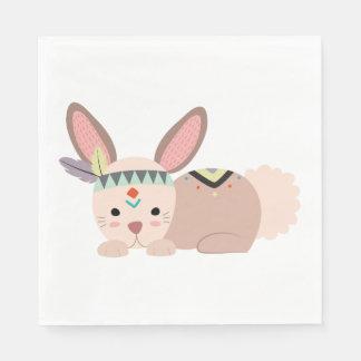 Tribal Bunny Napkin Disposable Serviettes
