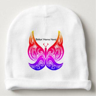 Tribal Butterfly Baby Beanie - Custom Name