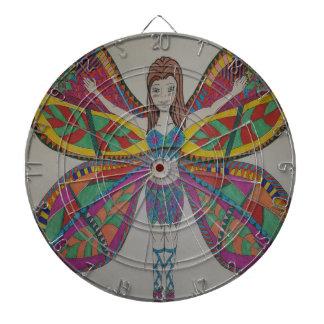 Tribal butterfly Fairy Dartboard