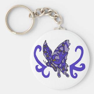 Tribal butterfly key chain
