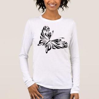 Tribal butterfly long sleeve shirt
