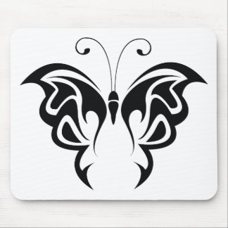 Tribal Butterfly Mouse Pad