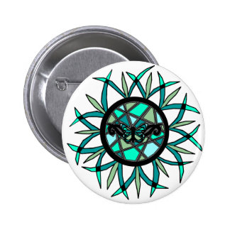 Tribal Butterfly Sun button