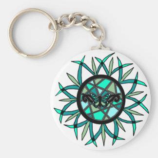 Tribal Butterfly Sun key chain