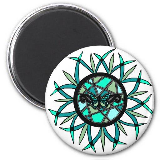 Tribal Butterfly Sun magnet