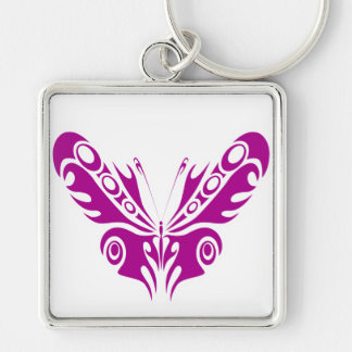 Tribal Butterfly Tattoo Design Keychains