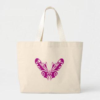 Tribal Butterfly Tattoo Design Jumbo Tote Bag