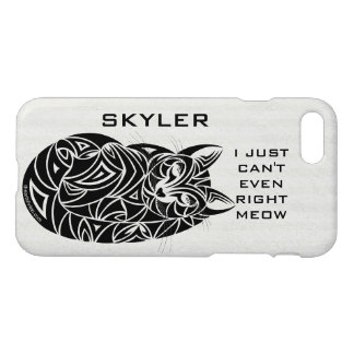 Tribal Cat Sleeping iphone7 Add Your Name Funny iPhone 7 Case