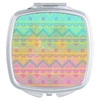 Tribal Chic Aztec Geometric Compact Mirror
