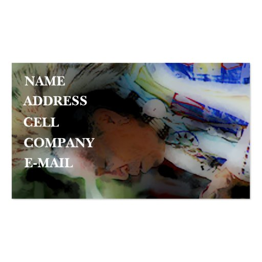 'Tribal Chief in Ceremony' Business Cards