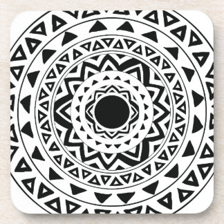 tribal Circle in Black Coaster