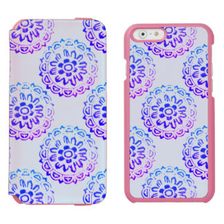 Tribal Circle Mandala Blue Purple Incipio Watson™ iPhone 6 Wallet Case