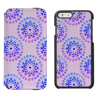 Tribal Circle Mandala Purple Ink Incipio Watson™ iPhone 6 Wallet Case