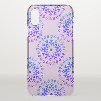 Tribal Circle Mandala Purple Ink iPhone X Case