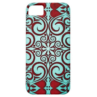 Tribal Close Up Damask Faded Punch Teal Shimmer iPhone 5 Cover