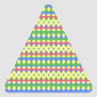 Tribal colorful cool pattern triangle sticker