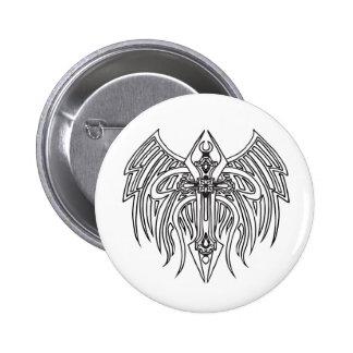 Tribal Cross 1 6 Cm Round Badge