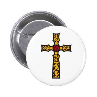 tribal cross anstecknadelbutton