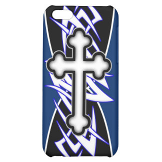 Tribal Cross Blue Case For iPhone 5C