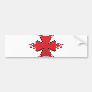 Tribal Cross Bumper Sticker
