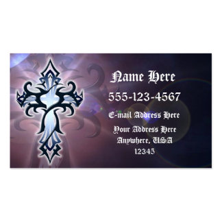 Tribal Cross Business Card - Jesus