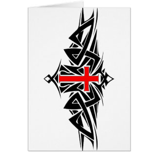 Tribal Cross Card