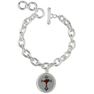 Tribal Cross Charm Bracelet
