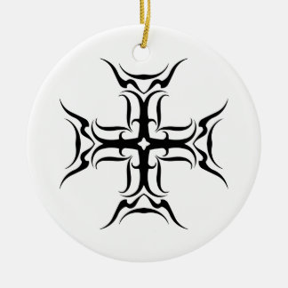 Tribal Cross-country race Round Ceramic Decoration