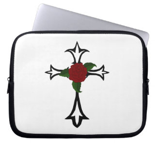 Tribal Cross Laptop Sleeve