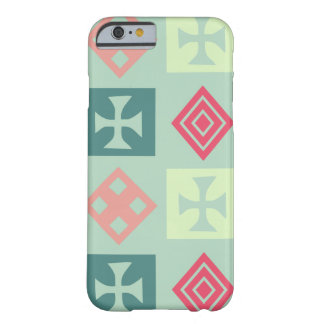 Tribal Cross Mint and Coral Barely There iPhone 6 Case