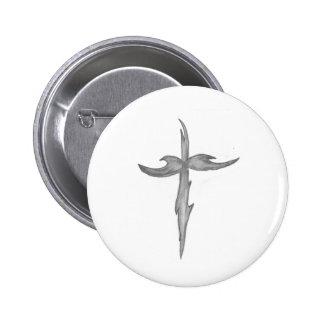 Tribal cross pinback buttons