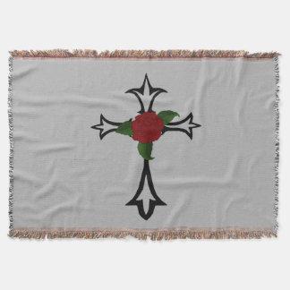 Tribal Cross Throw Blanket