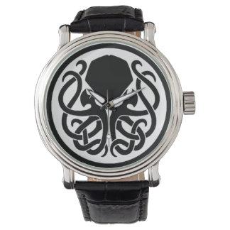 Tribal Cthulhu Black Vintage Leather Watch