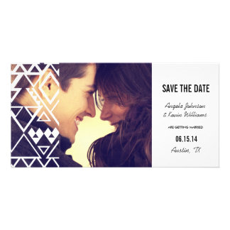 Tribal Cutout Save the Date Picture Card