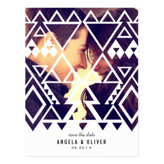 Tribal Cutout Save the Date Postcard
