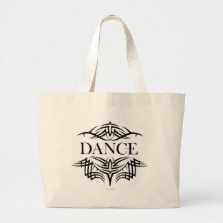 Tribal Dance (plain) Large Tote Bag